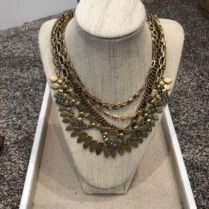 Stella &Dot gold layered statement necklace.